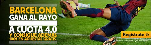 betfair Barcelona gana Rayo cuota 4 liga mas 100 euros 8 marzo
