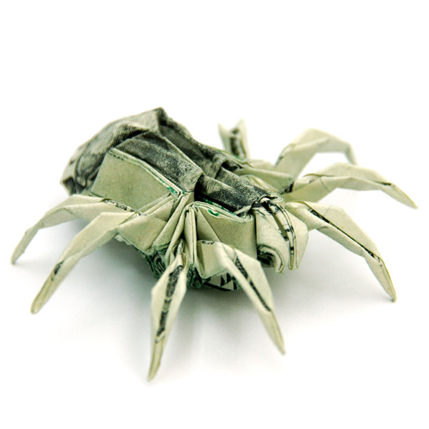 Origami,billete,dolar,Won Park,Two,Dollar,Spider