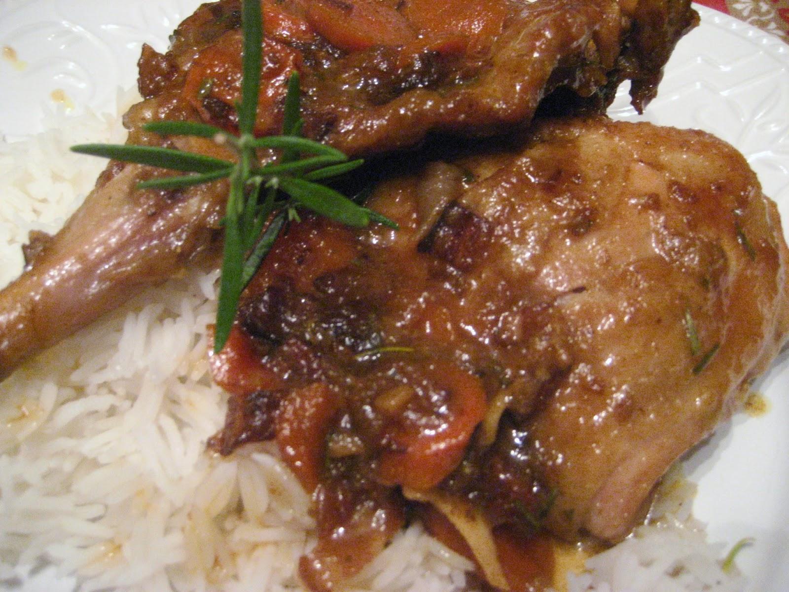 Marie est dans son assiette cuisses de lapin et de poulet l 39 rable - Echalote cuisse de poulet ...