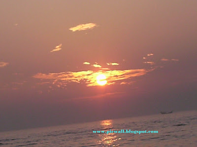 Sun in the beach of Cox's Bazar,Bangladesh