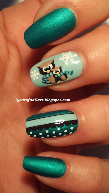 365 days of nail art cute owls