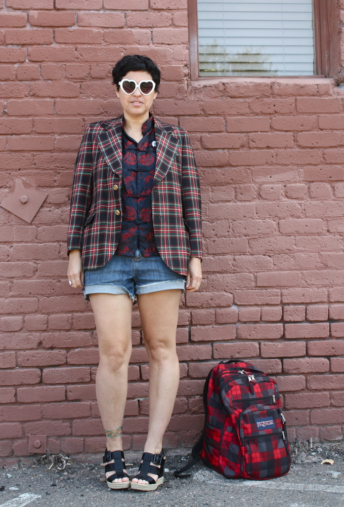 outfit post: Plaid Meet Mandarin