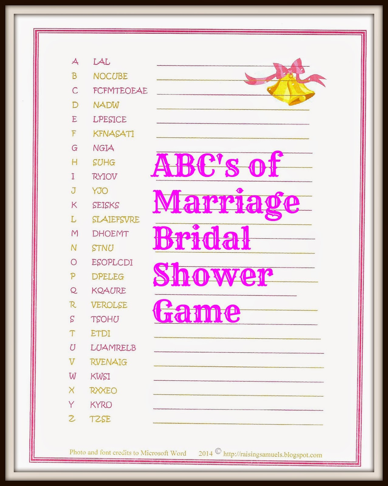 http://raisingsamuels.blogspot.com/2014/05/free-abcs-of-marriage-bridal-shower-game.html