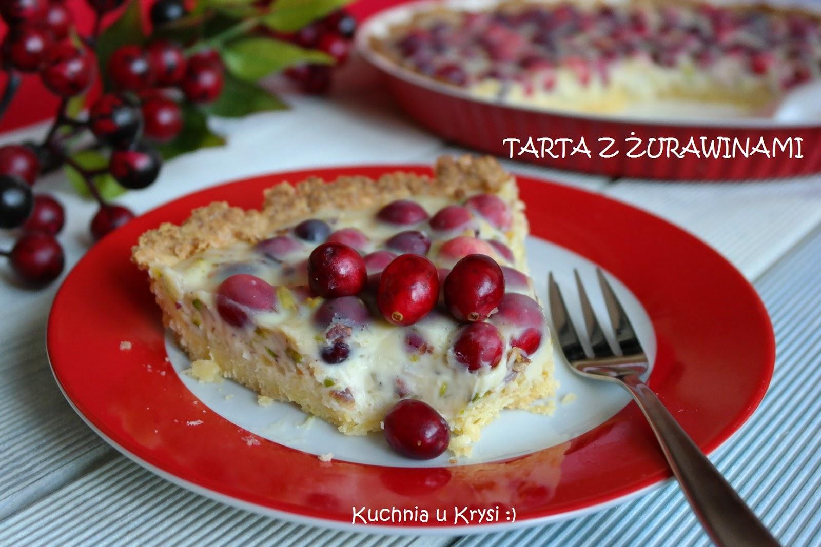 Kuchnia u Krysi  Tarta z żurawinami i białą czekoladą -> Kuchnia Gazowa Eka