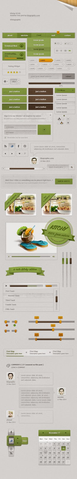 Restaurant & Food UI Kit PSD