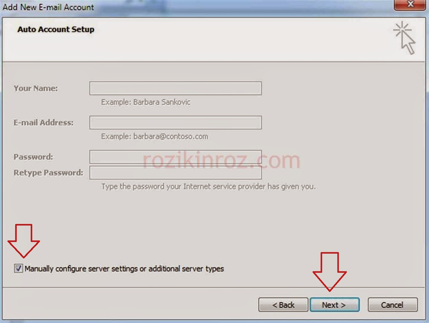 Cara Setting Email Pada Outlook Account Type POP3