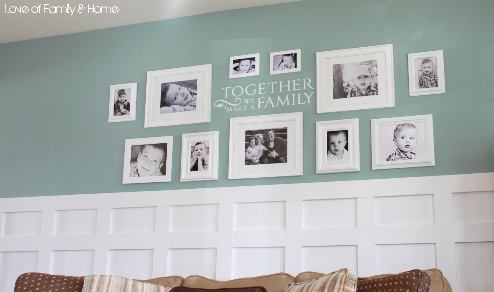 Board Batten Gallery Wall In The Living Room Love Of