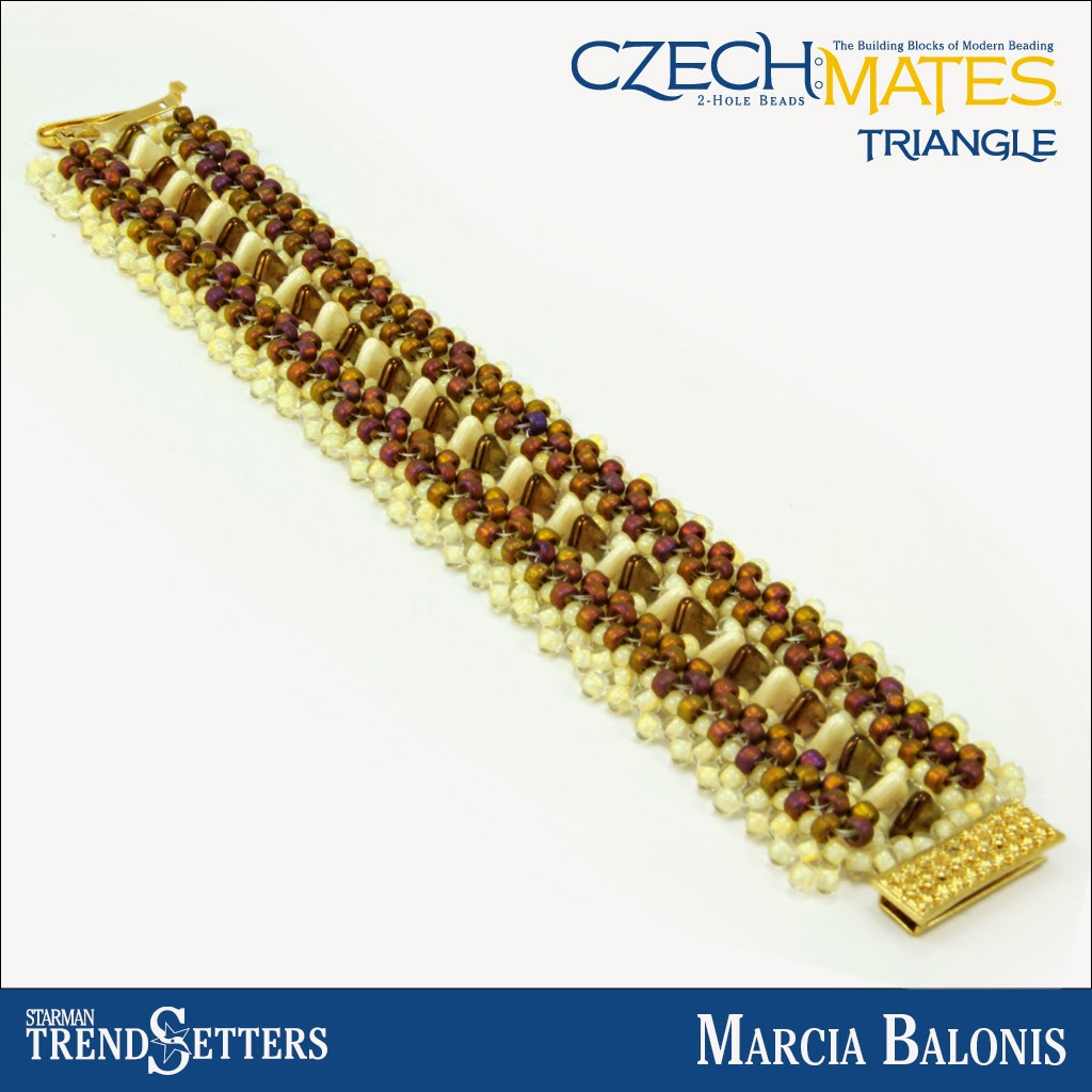 CzechMates Triangle bracelet by Starman TrendSetter Marcia Balonis