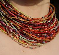 single strand zulugrass necklace