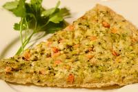 Pizza sem Glúten com Tofu e Legumes (vegana)