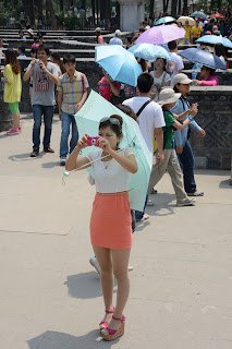 Chou mei girl at Yuanmingyuan or Old Summer Palace
