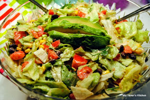 Southwest Salad with Avacado Dressing