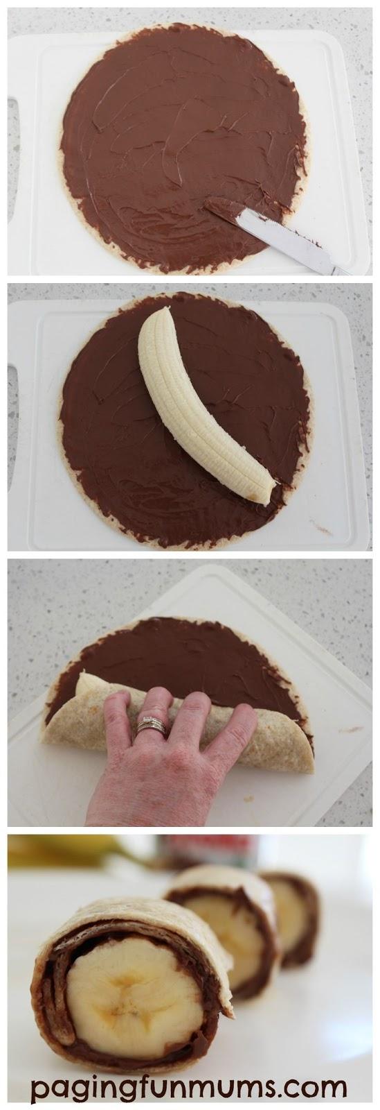 Nutella Banana Roll Up