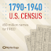 Olive Tree Genealogy Blog: Last Day for Free Access Entire US Census Collection