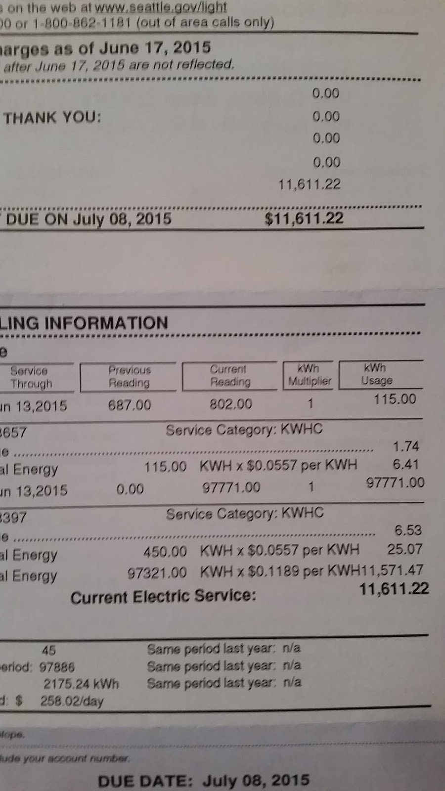We Just Received Our First Electric Bill From Seattle City Light! Weu0027ve  Produced Over 2,800 Kilowatts So Far And Have Only Used A Few.