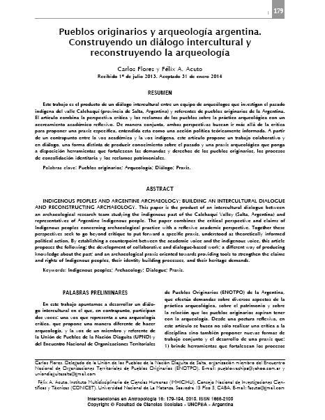 Pueblos Originarios y Arqueología  Argentina