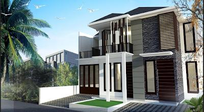 desain rumah minimalis modern 2 lantai terbaru