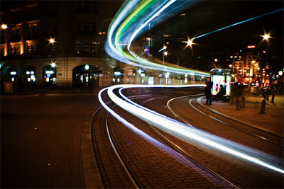 luces en movimiento