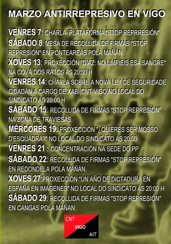 Vigo Marzo Antirrepresivo