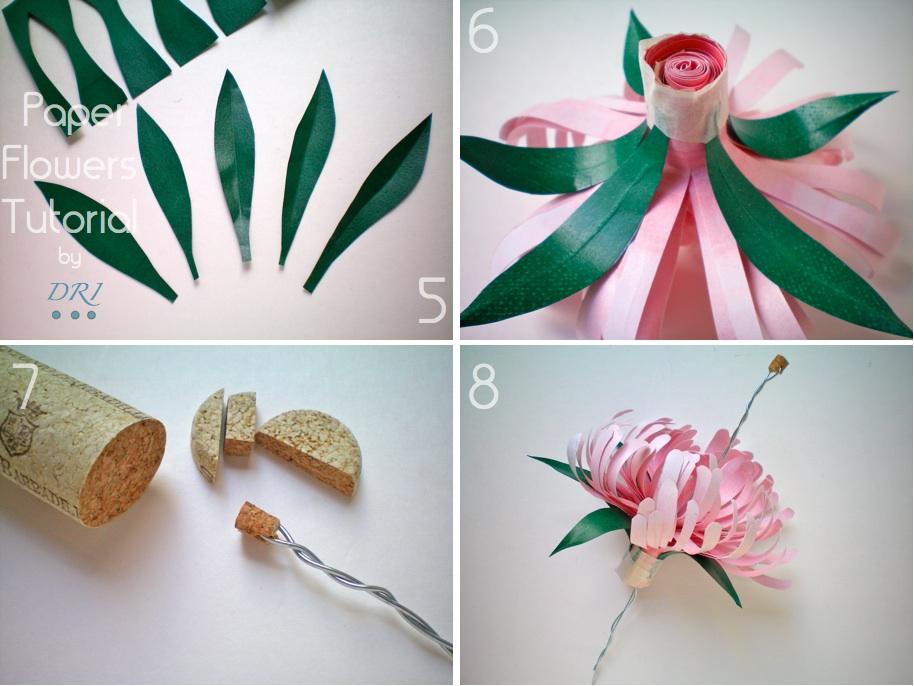 Как сделать хризантем из бумаги