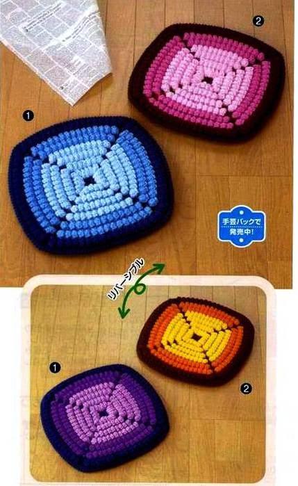 Patrón de Posavasos / agarraderas al crochet