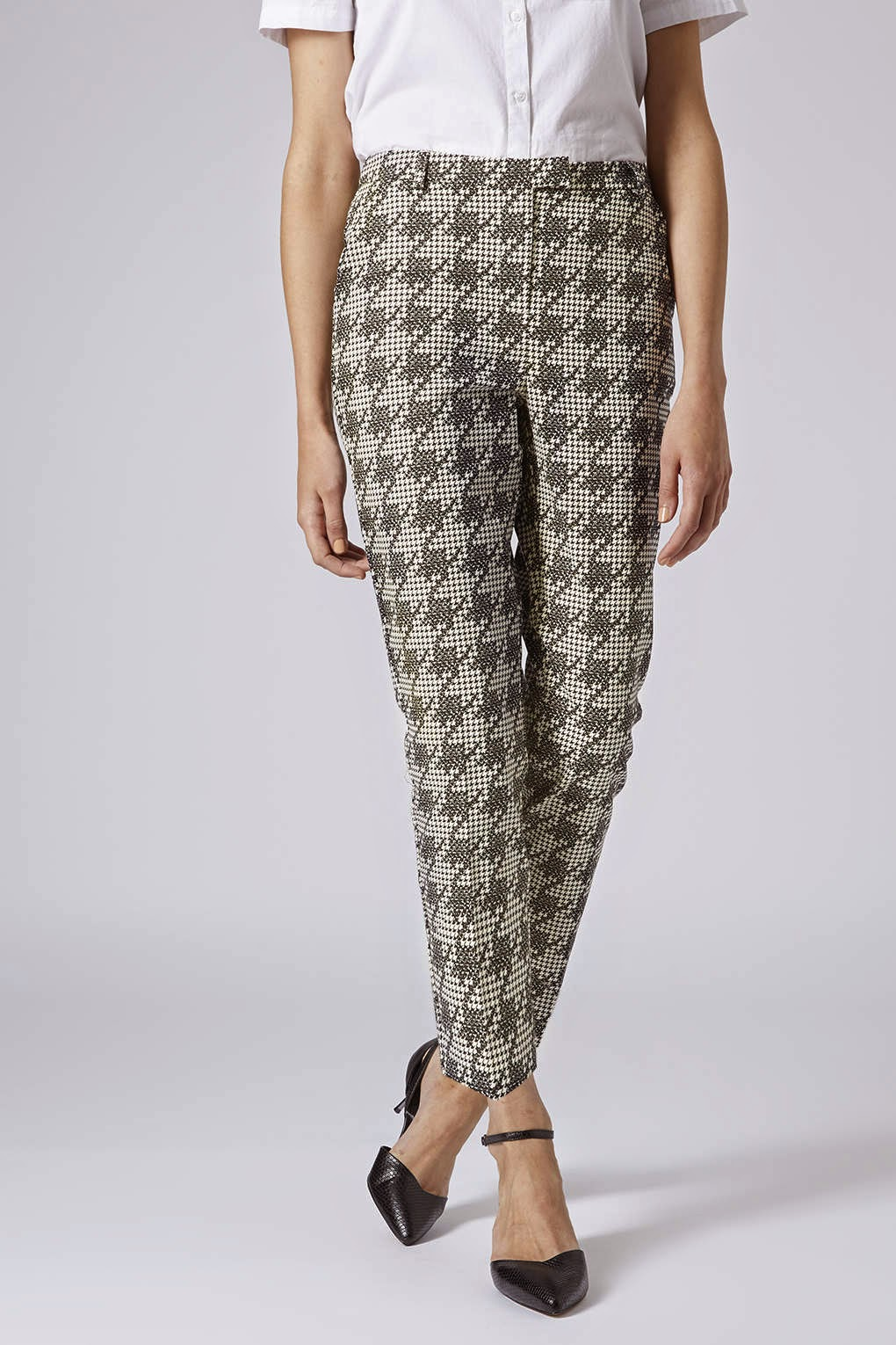 dogtooth check trousers