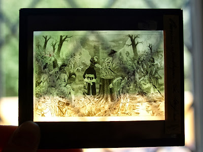 Civil war magic lantern slide