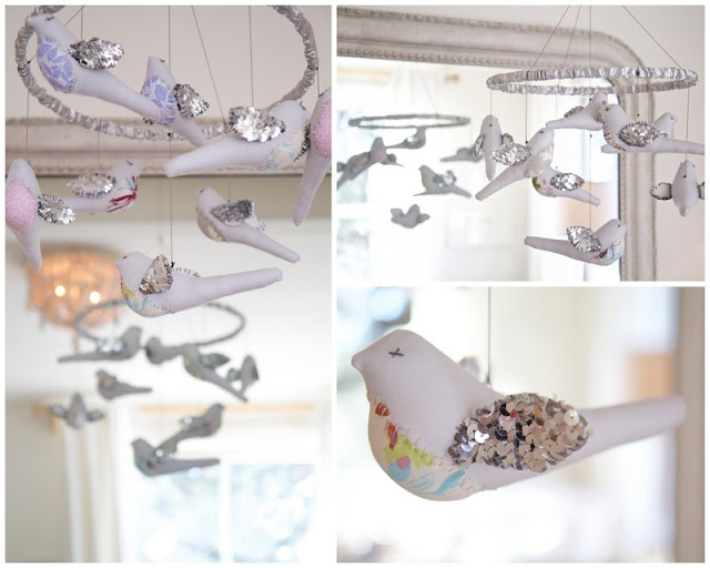 Bird mobile; Baby nursery; Nursery in the Nest; Nora's Nest