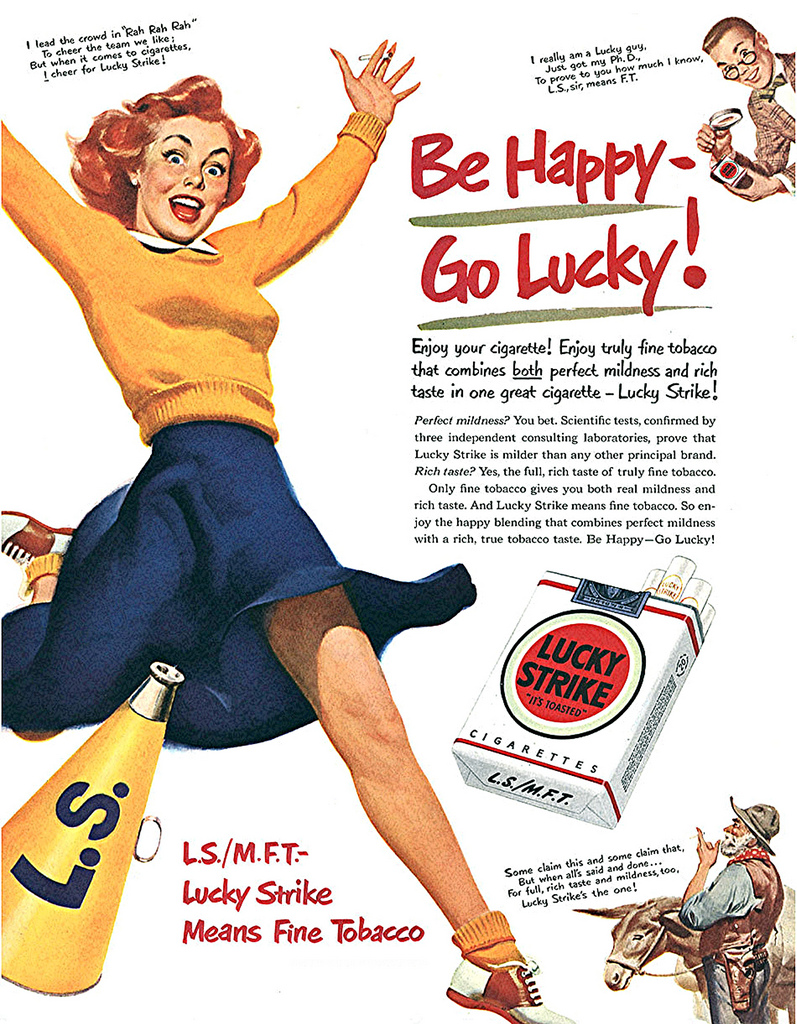 Bizarre Tobacco Advertising from 1920s-1930s ~ vintage ... Ad