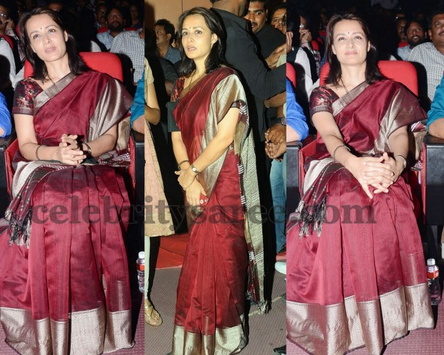 Amala in Bridal Silk Saree