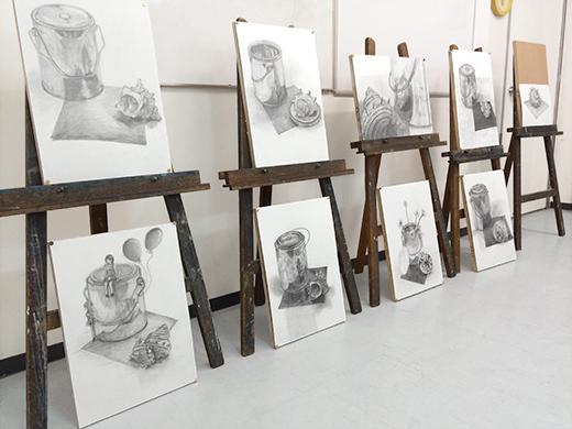 横浜美術学院の中学生教室 美術クラブ どこまで描けるか!「細密デッサン」作品完成