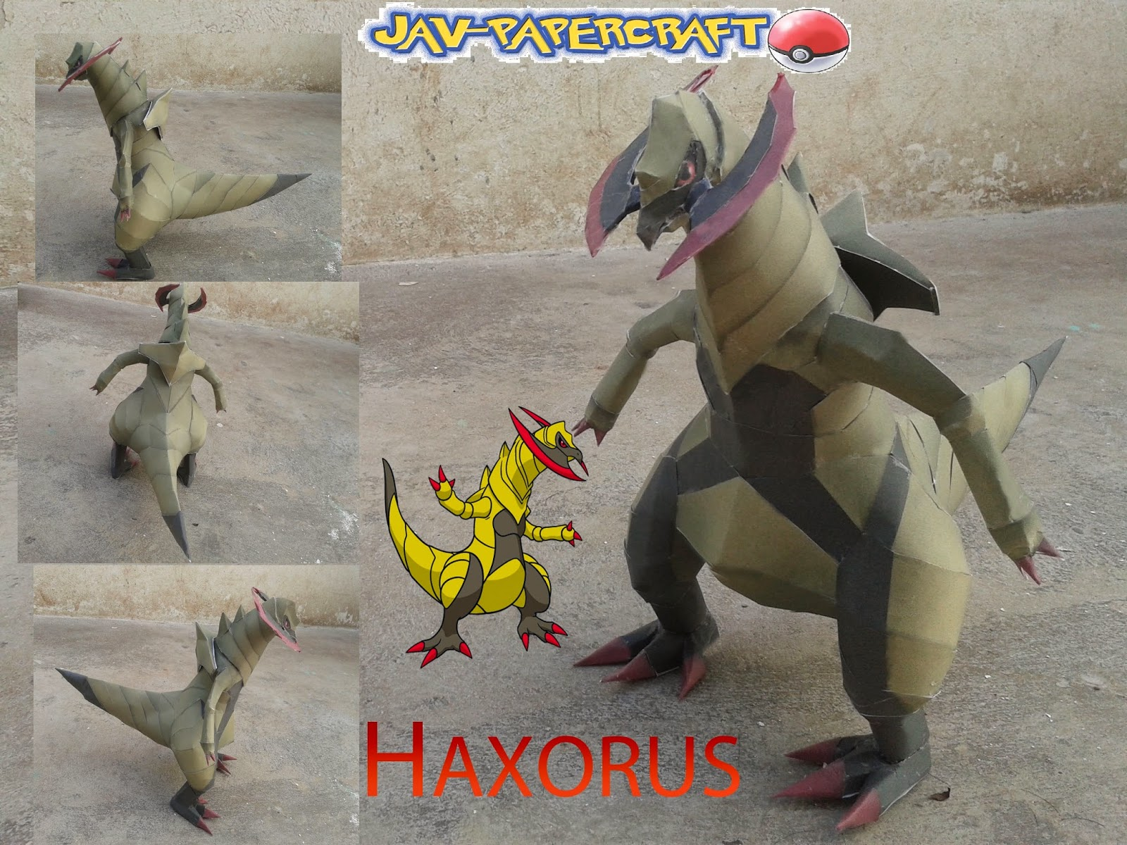Pokemon Haxorus Papercraft