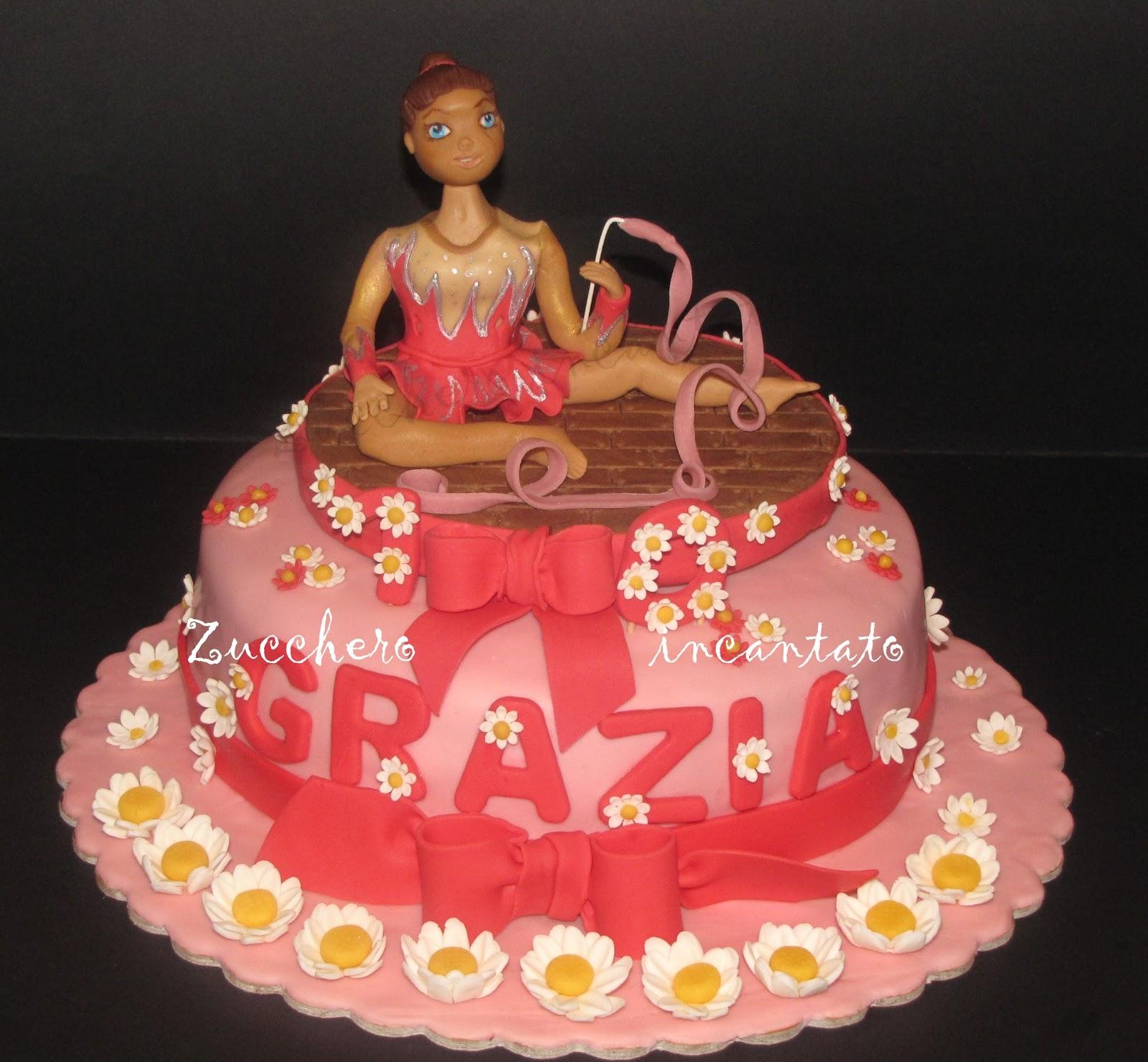Torta ginnastica ritmica for Decorazione torte ginnastica ritmica