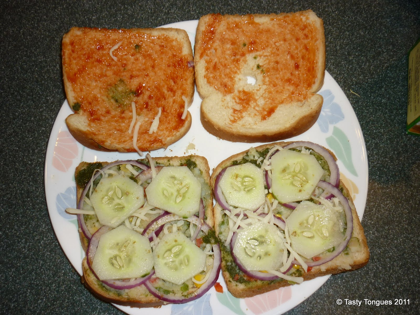 Grilled Chutney Sandwiches