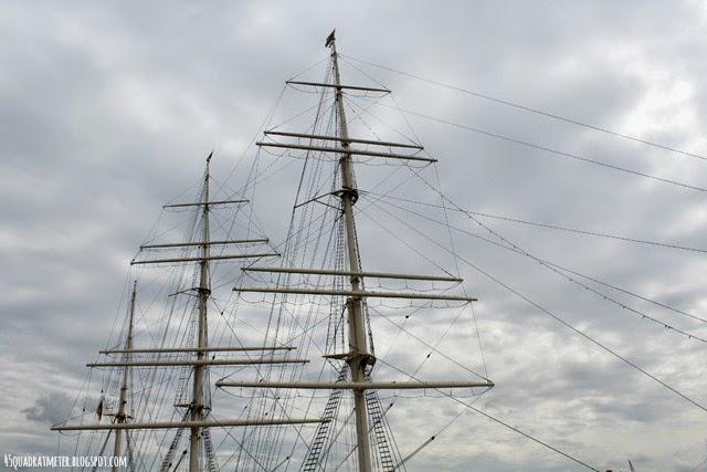 Welt entdecken, Hamburg, Elbe, Hafen, Himmel, Segelschiff