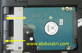 Ganti Hardisk Laptop Toshiba Satellite L740