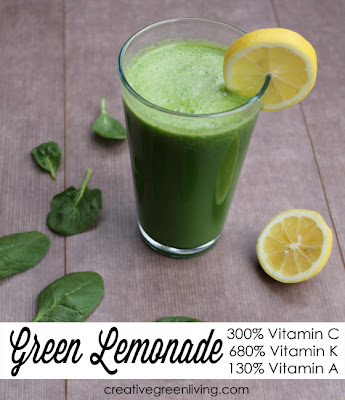 green lemonade recipe with spinach or kale