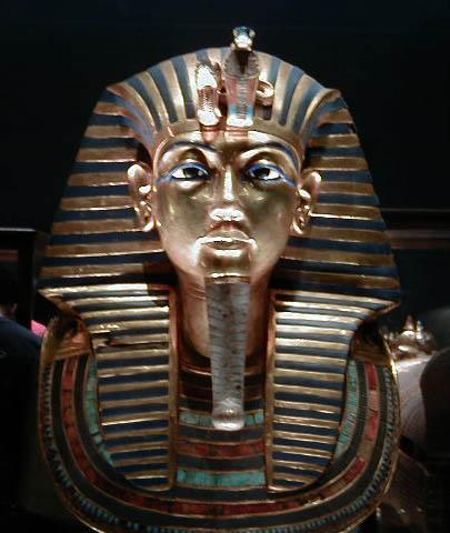 Tutankhamuns mask Egyptian Museum