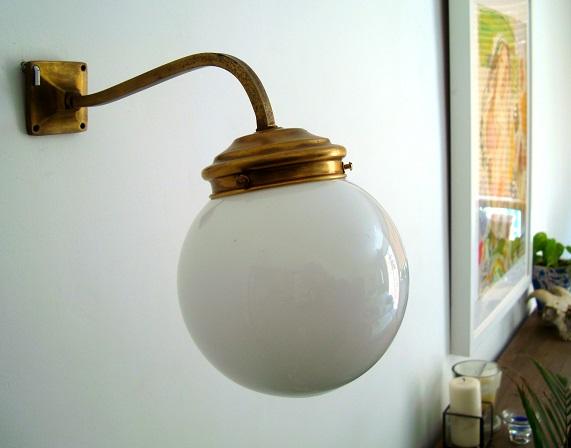 Comprar aplique antiguo de latón estilo clásico. Iluminación vintage en valencia