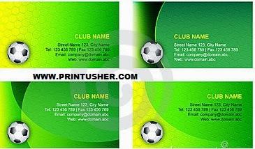 Football shaped business cards colourmoves
