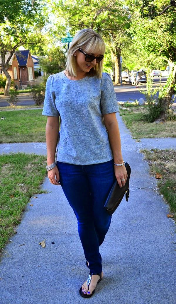 style blogger, ray-ban wayfarer, textured shirt