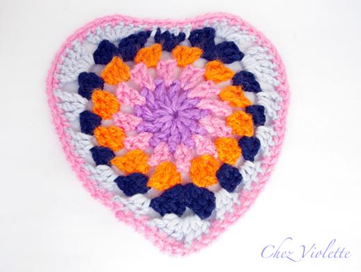 granny heart crochet - chez violette
