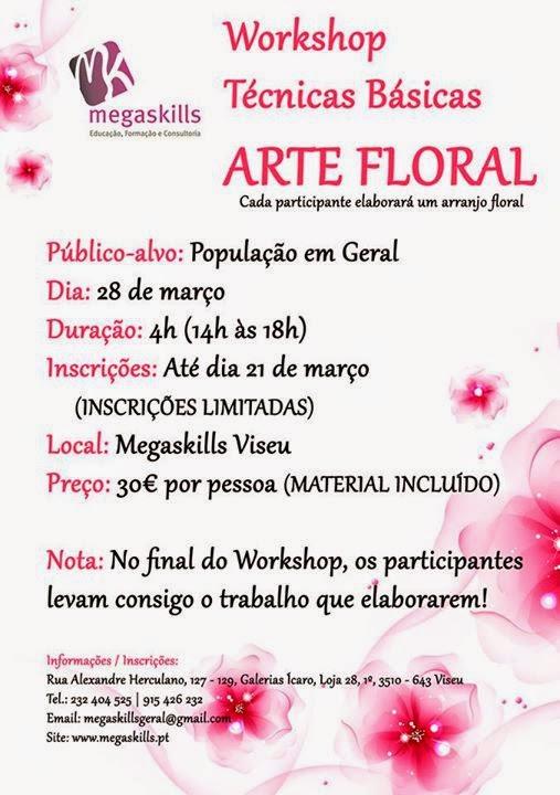 Workshop de arte floral em Viseu