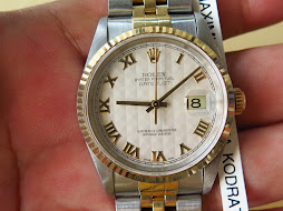 ROLEX OYSTER PERPETUAL DATEJUST WHITE TEXTURED ROMAN DIAL-ROLEX 16233 TWO TONE - SERIE U YEAR 1998
