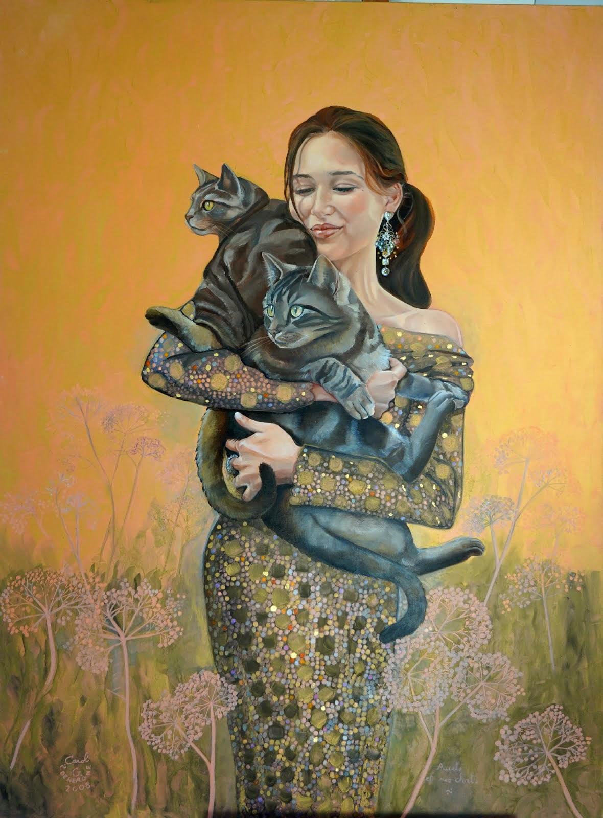AUDE et ses chats, Seccotine et Scarlamitou