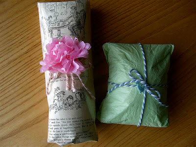 book presents wrapping ideas christmas holidays tissue paper flower moffats