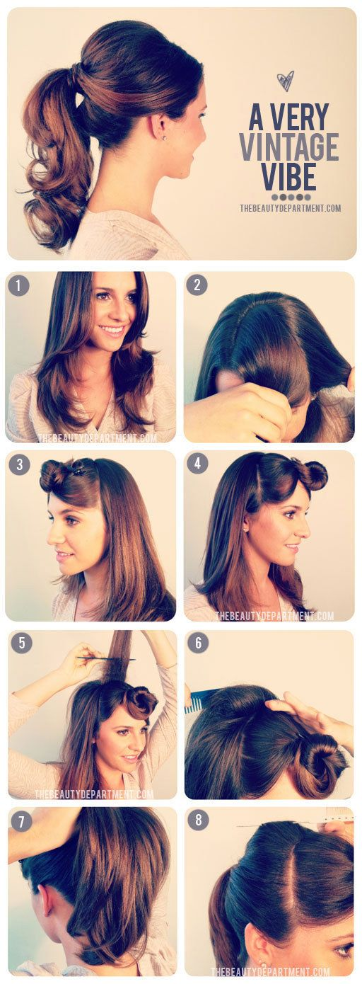 Gorgeously Dreamy Vintage-Inspired Hair Tutorial