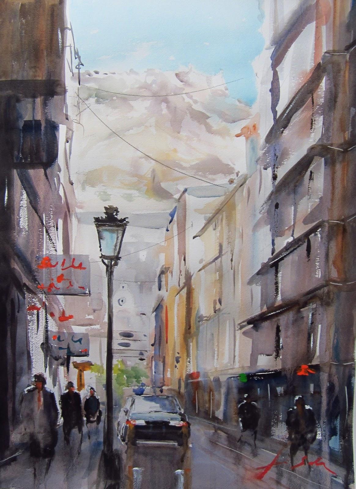 Luis sala acuarelas watercolors calle metge pascual for Sala 8 y medio alicante