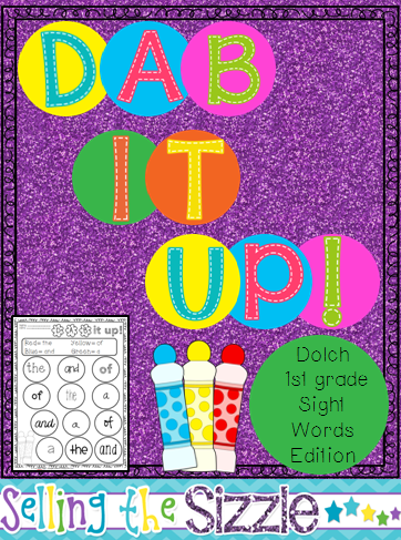 http://www.teacherspayteachers.com/Product/Dab-It-Up-with-the-1st-grade-Dolch-list-1272015