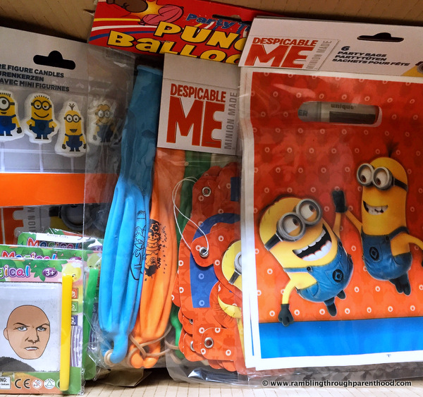 Minions from Party Bags and Supplies